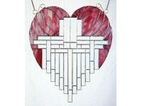 Heart Panel With Bevels